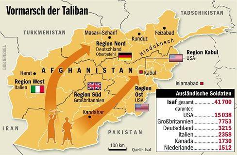 Die Taliban rücken in großer Zahl Richtung Norden vor