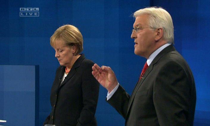 TV-Duell: Steinmeier / Merkel Studio