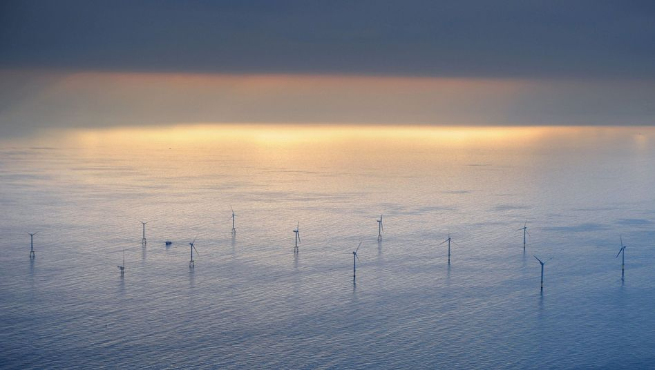 Alpha Ventus, the first wind farm to be built off the German coast, went into operation in April 2010.