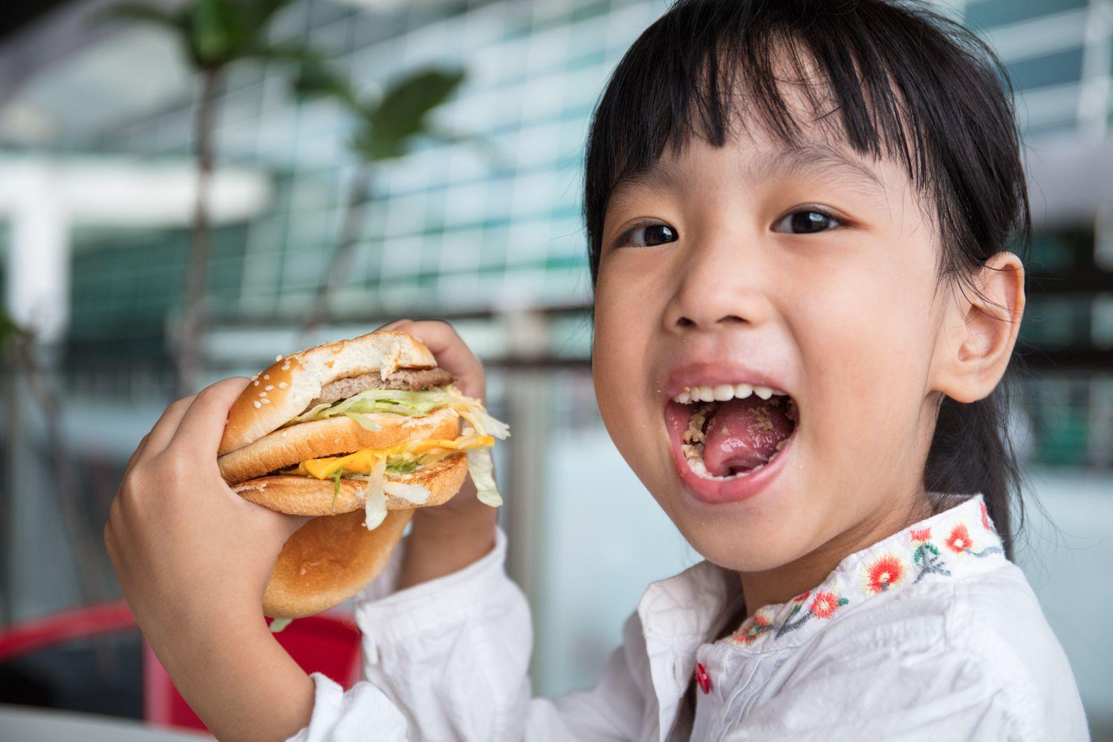 EINMALIGE VERWENDUNG Fast Food