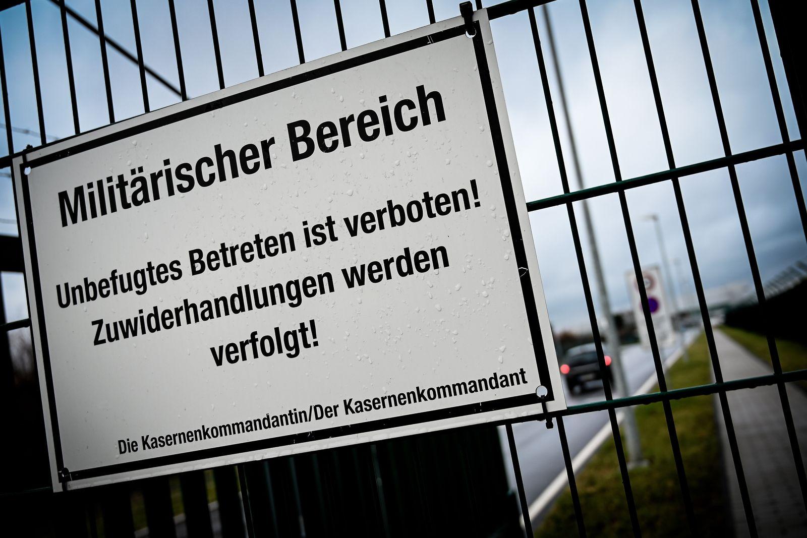 German Air Force BMVg blocked in Cologne-Bonn, Cologne Bonn, Germany - 26 Feb 2020