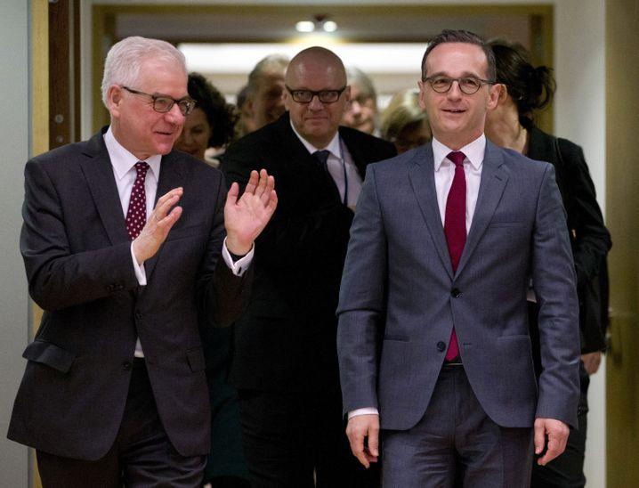 Polnischer Außenminister Jacek Czaputowicz, deutscher Amtskollege Heiko Maas