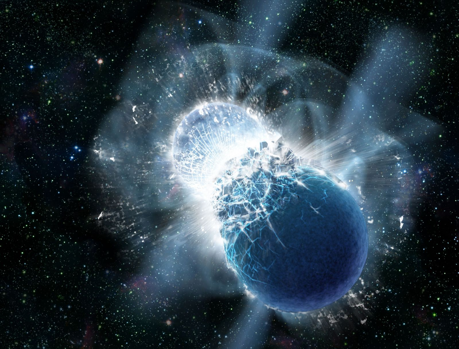 EINMALIGE VERWENDUNG Gamma Ray Burst / Gold / Neutronensterne