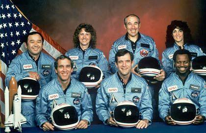 Ahnengalerie: Offizielles Foto der Challenger-Besatzung, die 1986 ums Leben kam