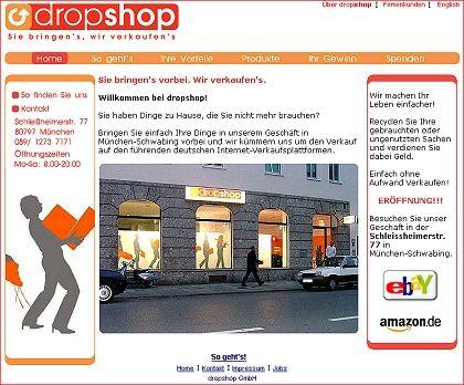 DropShop: Hinbringen, versteigern lassen, Anteil kassieren