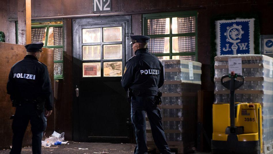 Polizisten auf dem Oktoberfestgelände