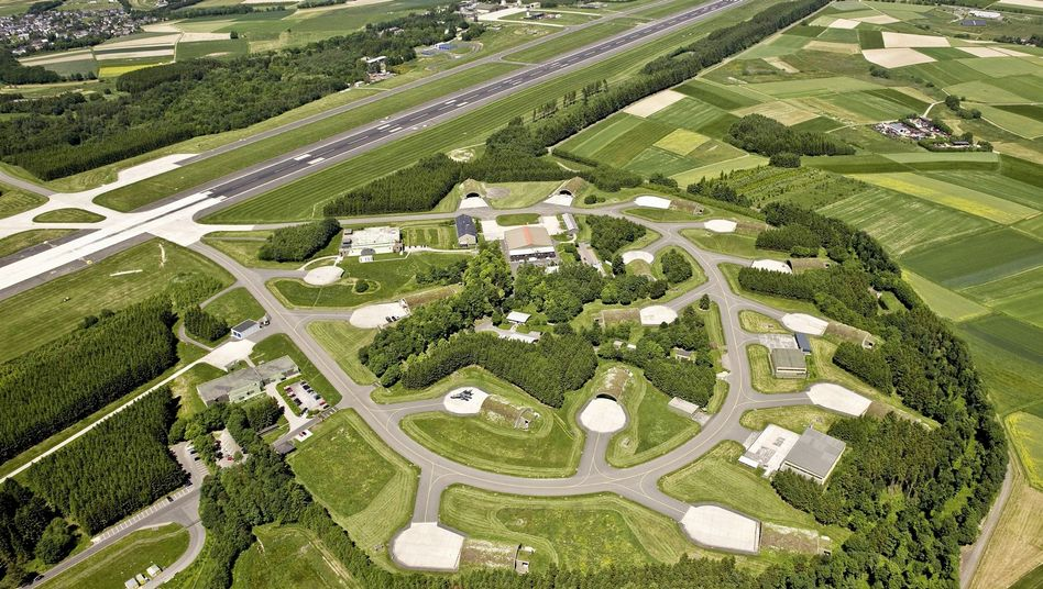 The Büchel military base in southern Germany where it is thought that some US tactical nuclear weapons are stored.