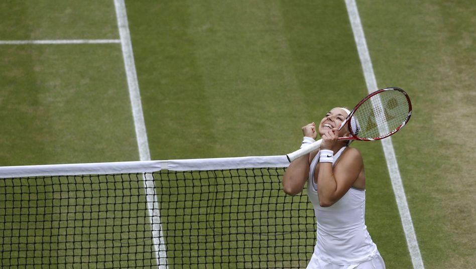 Tennisspielerin Lisicki: Im Halbfinale von Wimbledon