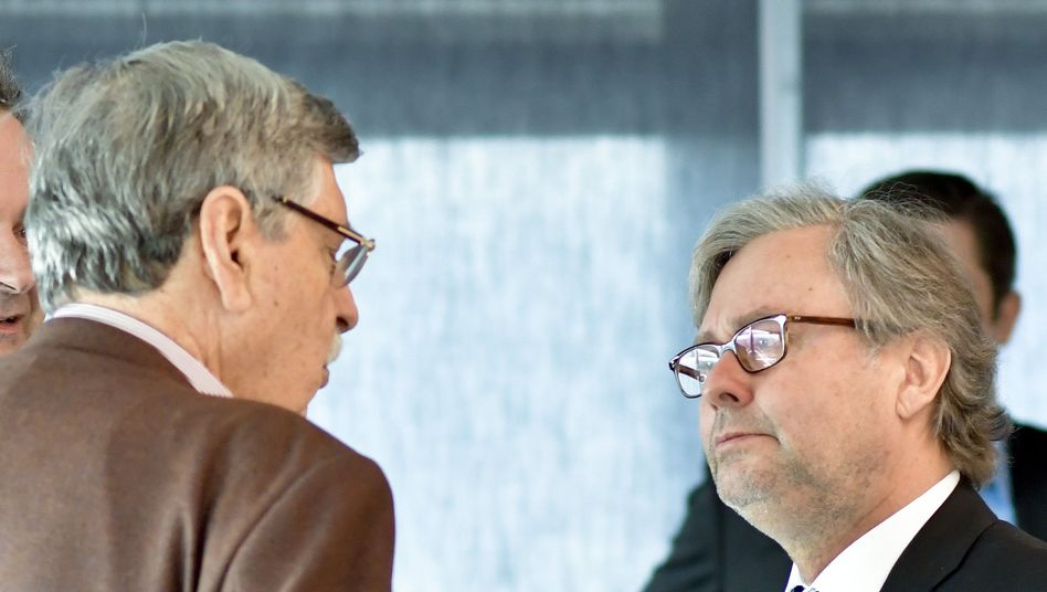 FPÖ-Politiker Norbert Steger (links) und ORF-Generaldirektor Alexander Wrabetz