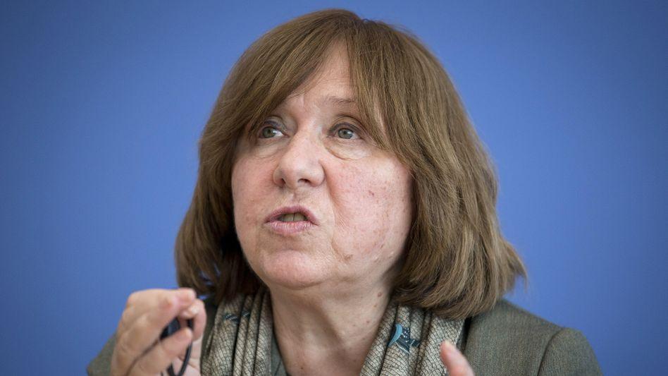 Schriftstellerin Swetlana Alexijewitsch habe sich dieses Ausmaß der Gewalt in Belarus nicht vorstellen können