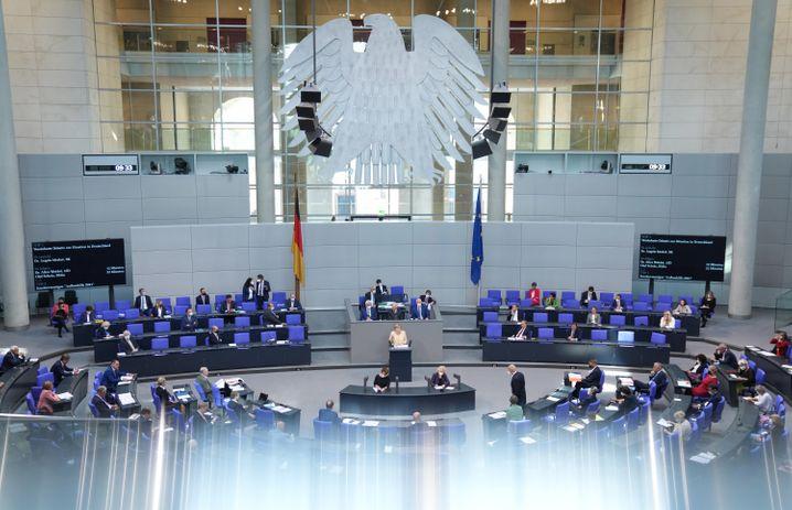 Plenum im Bundestag