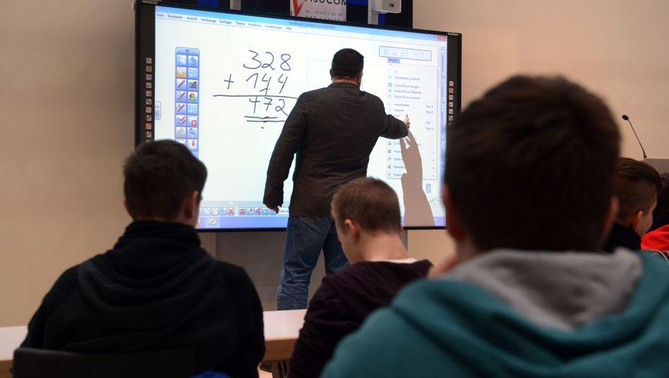Unterricht mit Whiteboard