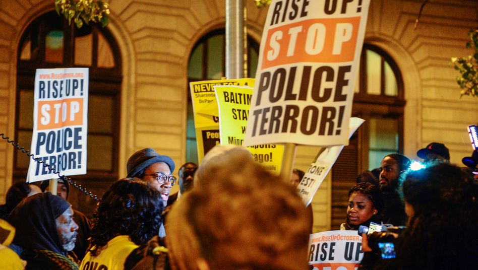 Proteste gegen Polizeigewalt in Baltimore, Maryland (Archivbild)