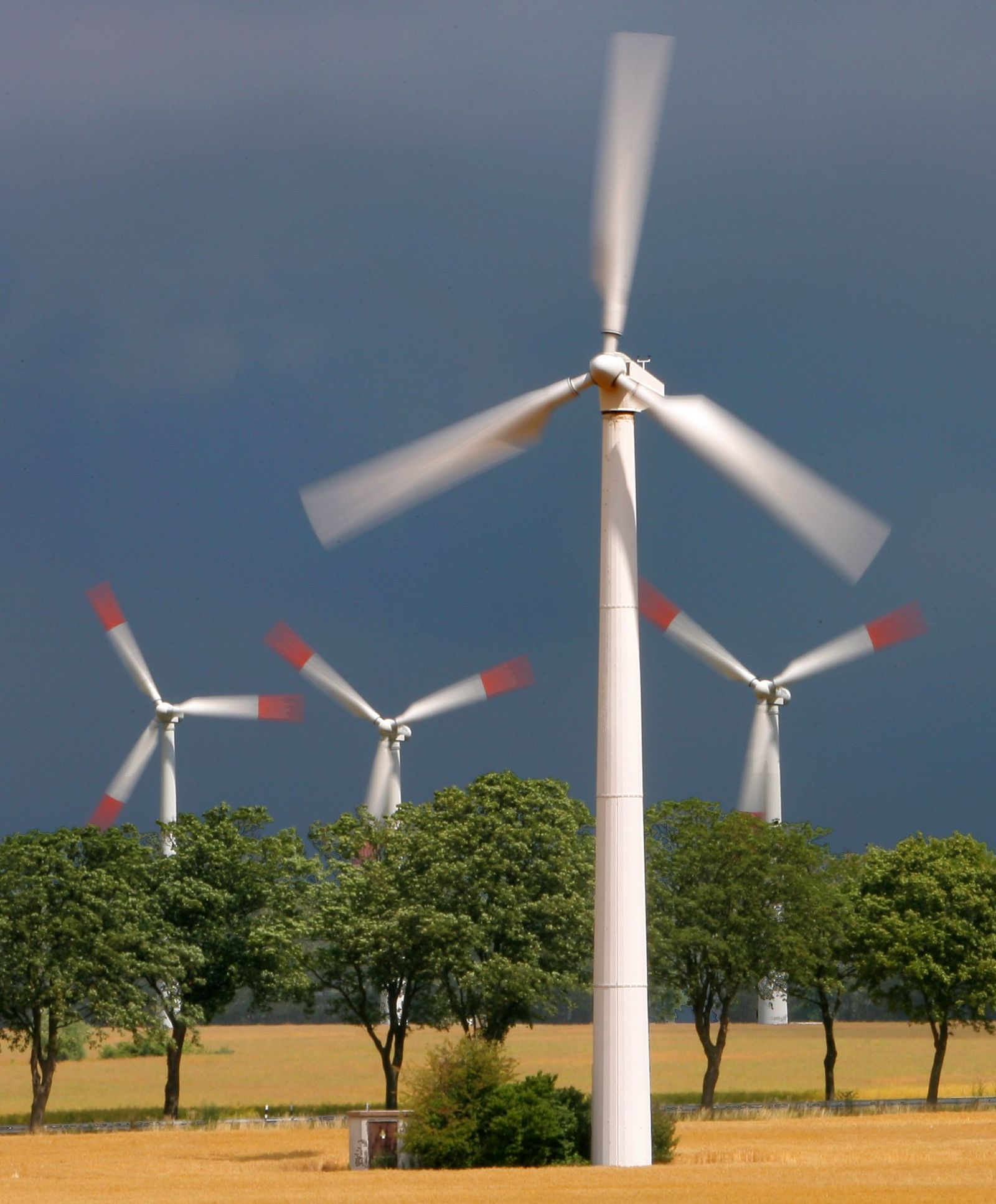 Windkraftanlagen in Nordvorpommern