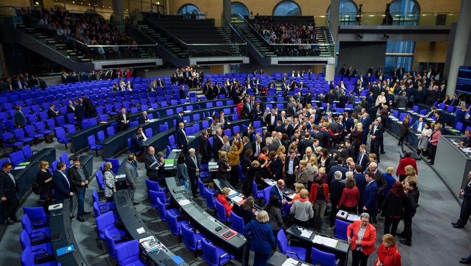 Abstimmung im Bundestag (in Nicht-Pandemie-Zeiten)