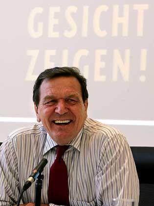 """Alt-Bundeskanzler Schröder: """"Ihr seid netter geworden"""""""