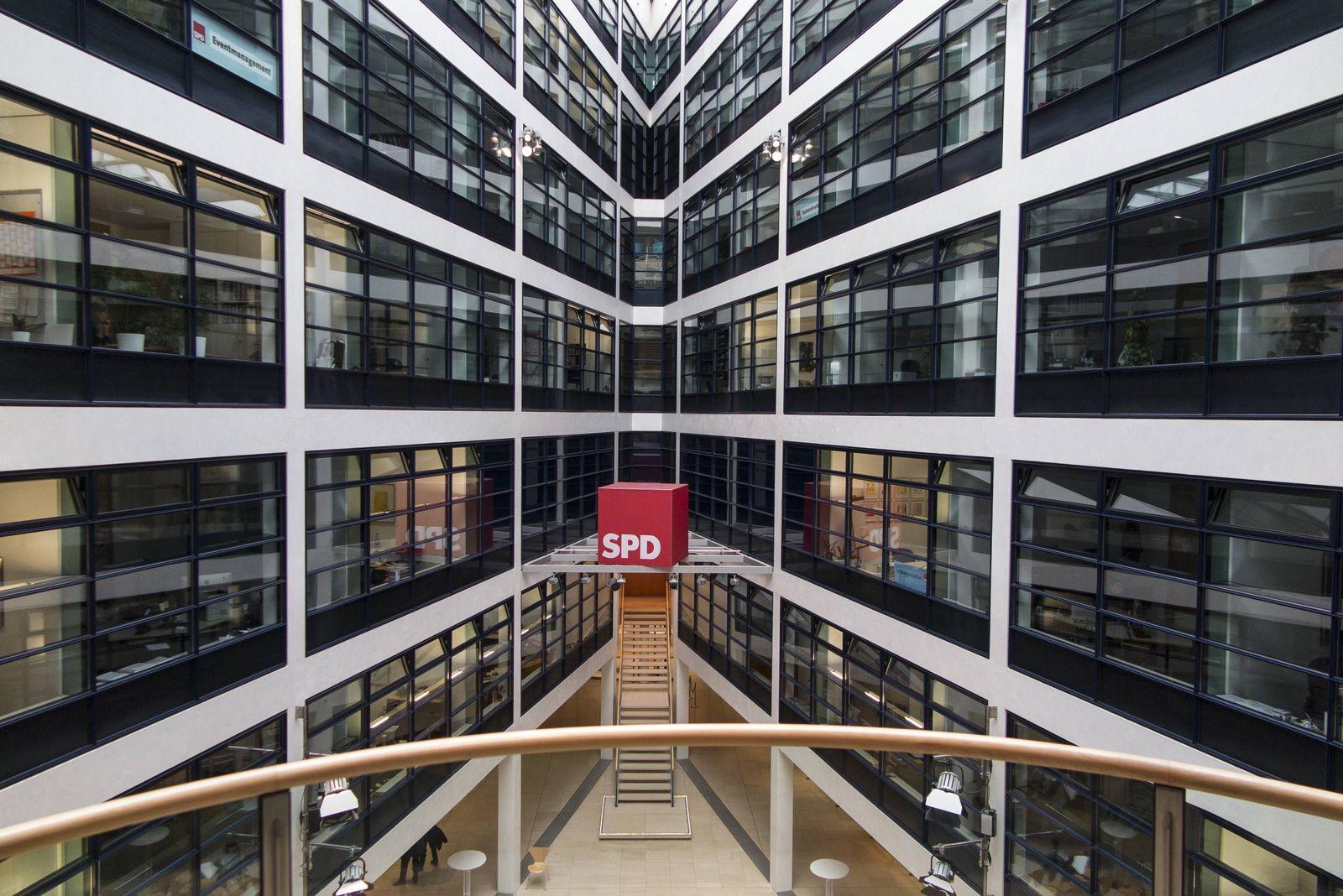 EINMALIGE VERWENDUNG Willy-Brandt-Haus/ SPD