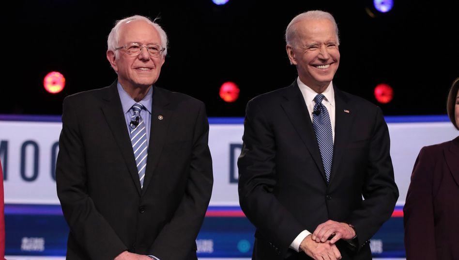 Sanders und Biden bei der TV-Debatte Ende Februar