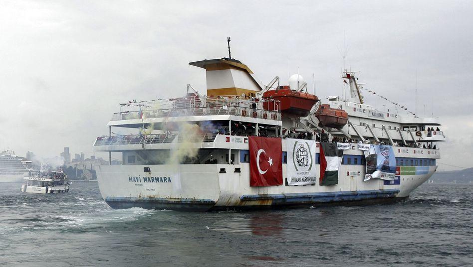 "Die ""Mavi Marmara"" 2010 in Istanbul"