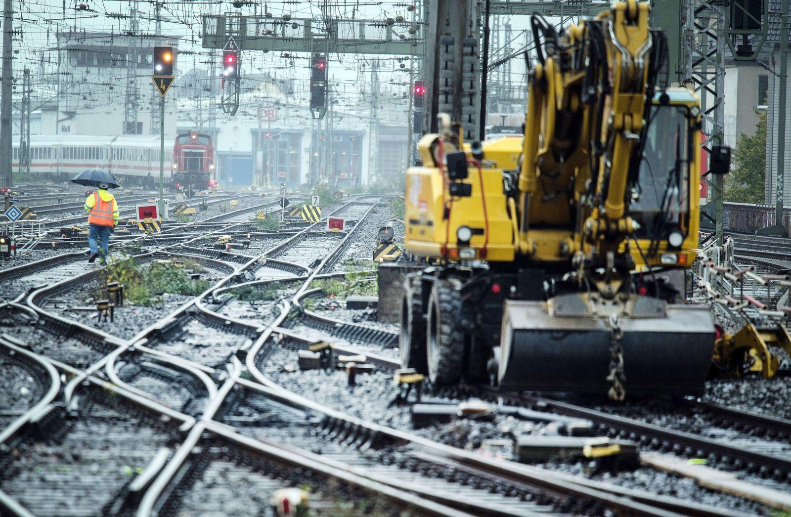 Bauarbeiten der Bahn