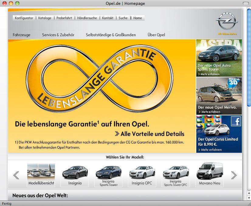 Screenshot Opel