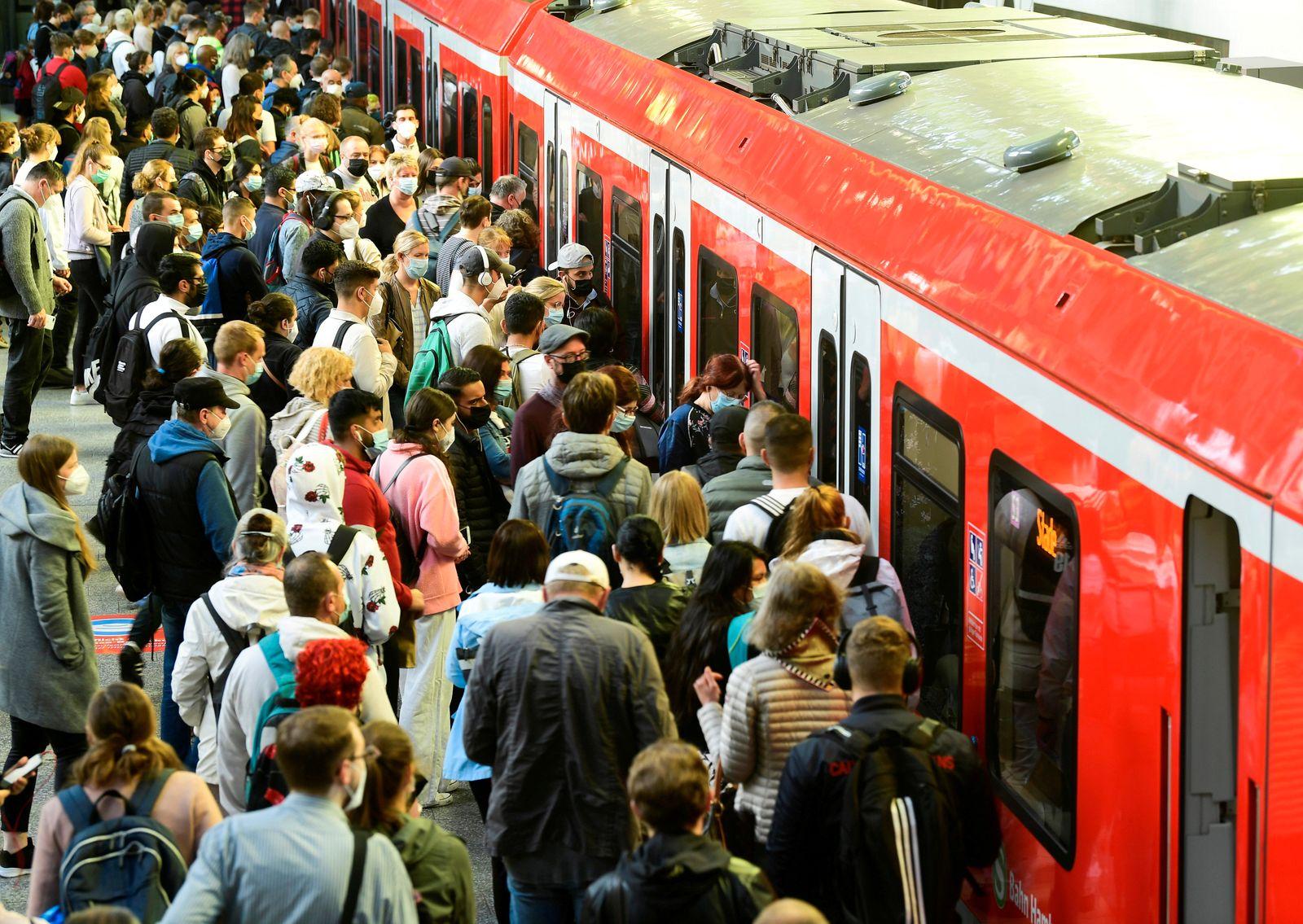 German rail union strikes in Hamburg