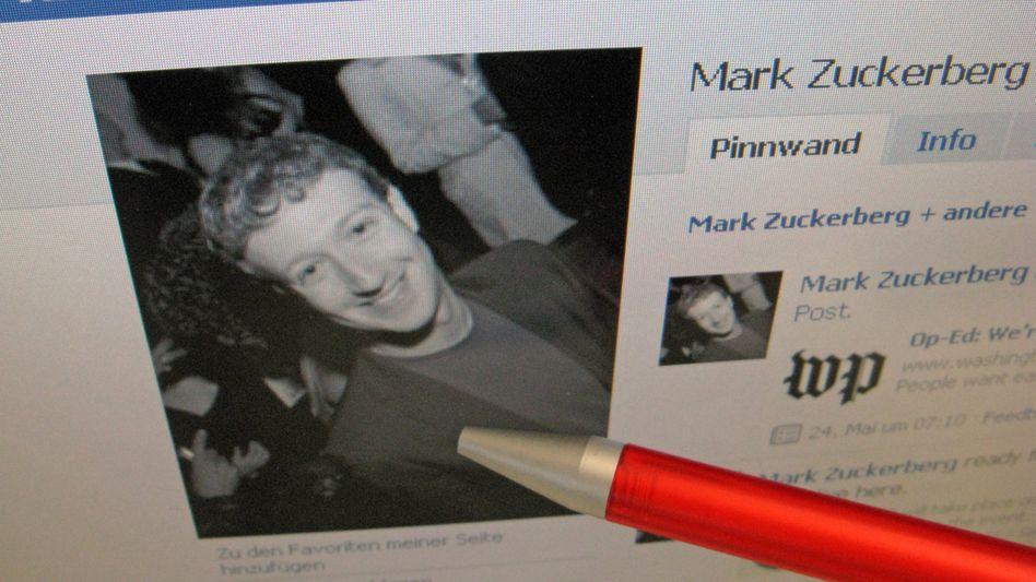 Facebook-Seite von Gründer Zuckerberg: 1800 Leuten gefiel der Aufruf des Hackers