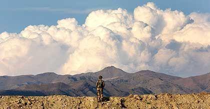 Unruheregion: Pakistanischer Soldat in Waziristan