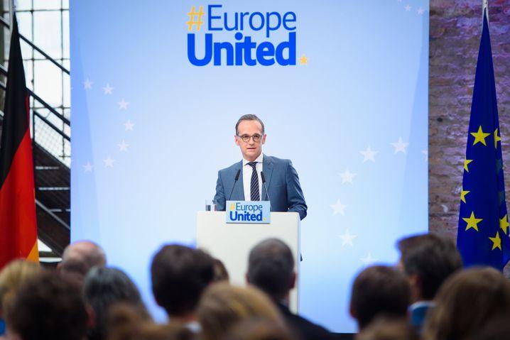 Berlin Foreign Minister Heiko Maas speaking in Berlin last week.