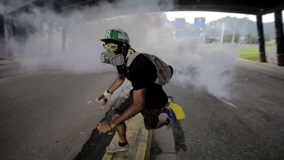 Demonstrant in Venezuela