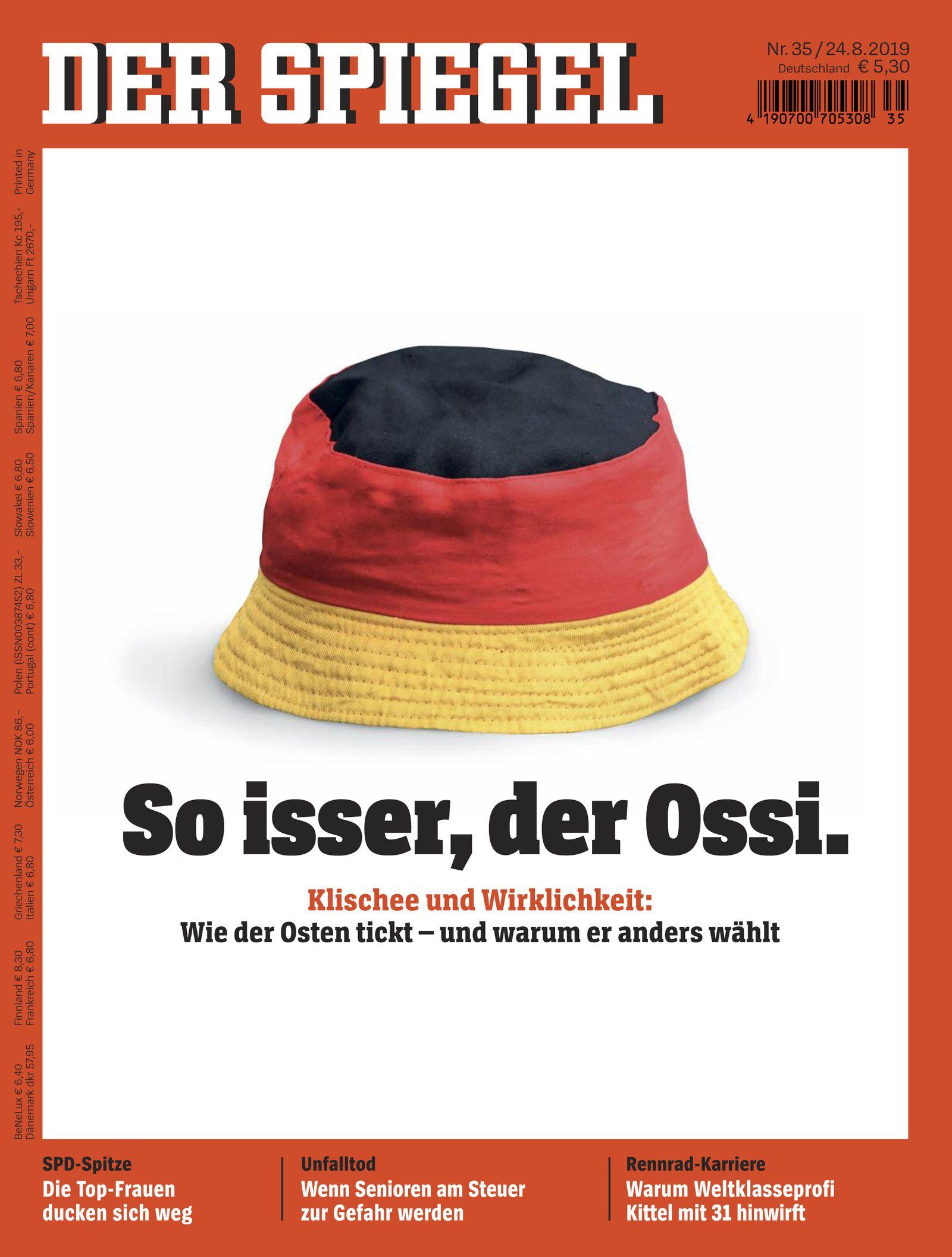 SPIEGEL-Cover 35/2019 - So isser, der Ossi