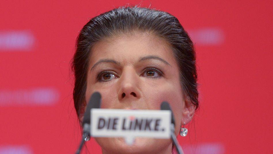 Sahra Wagenknecht auf dem Bundesparteitag der Partei Die Linke