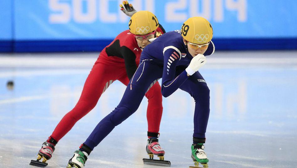 Shim Suk-Hee (rechts) hatte ihren ehemaligen Coach angezeigt