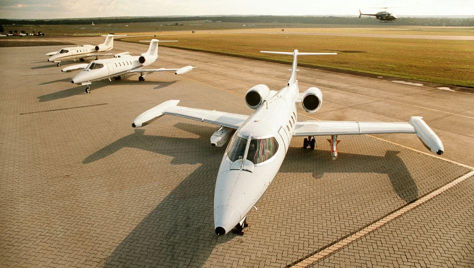 Privatjets (Symbolbild): Die Flugzeuge folgen den Handelsströmen