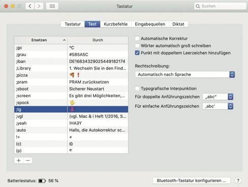 Die macOS-Textersetzungen erleichtern die Eingabe von Sonderzeichen, können aber auch ganze Absätze aus einer kurzen Zeichenfolge erschaffen