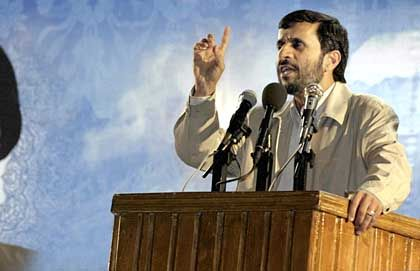 Iranian President Mahmoud Ahmadinejad: It's our right to have a nuclear program.