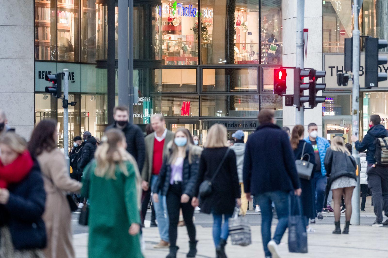 Coronavirus - Einkaufen in Hamburg