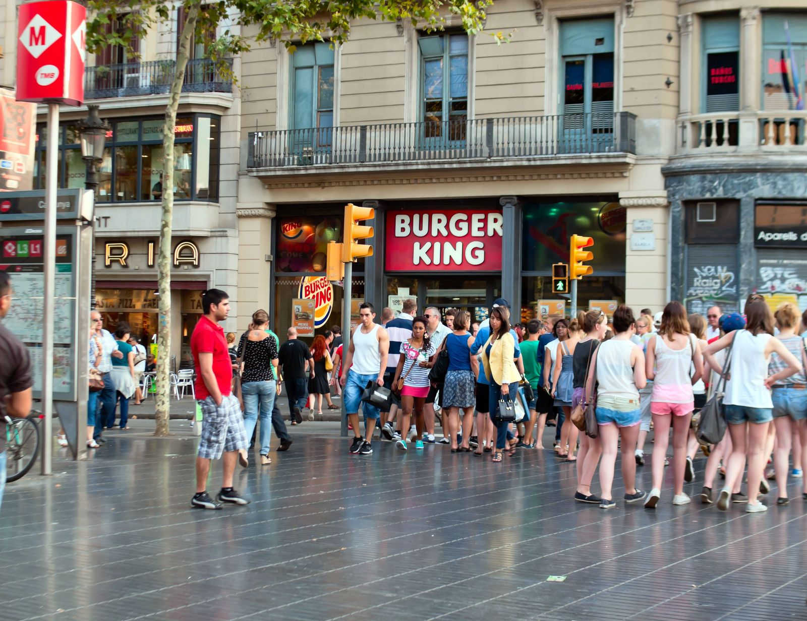 EINMALIGE VERWENDUNG Burger King / Barcelona