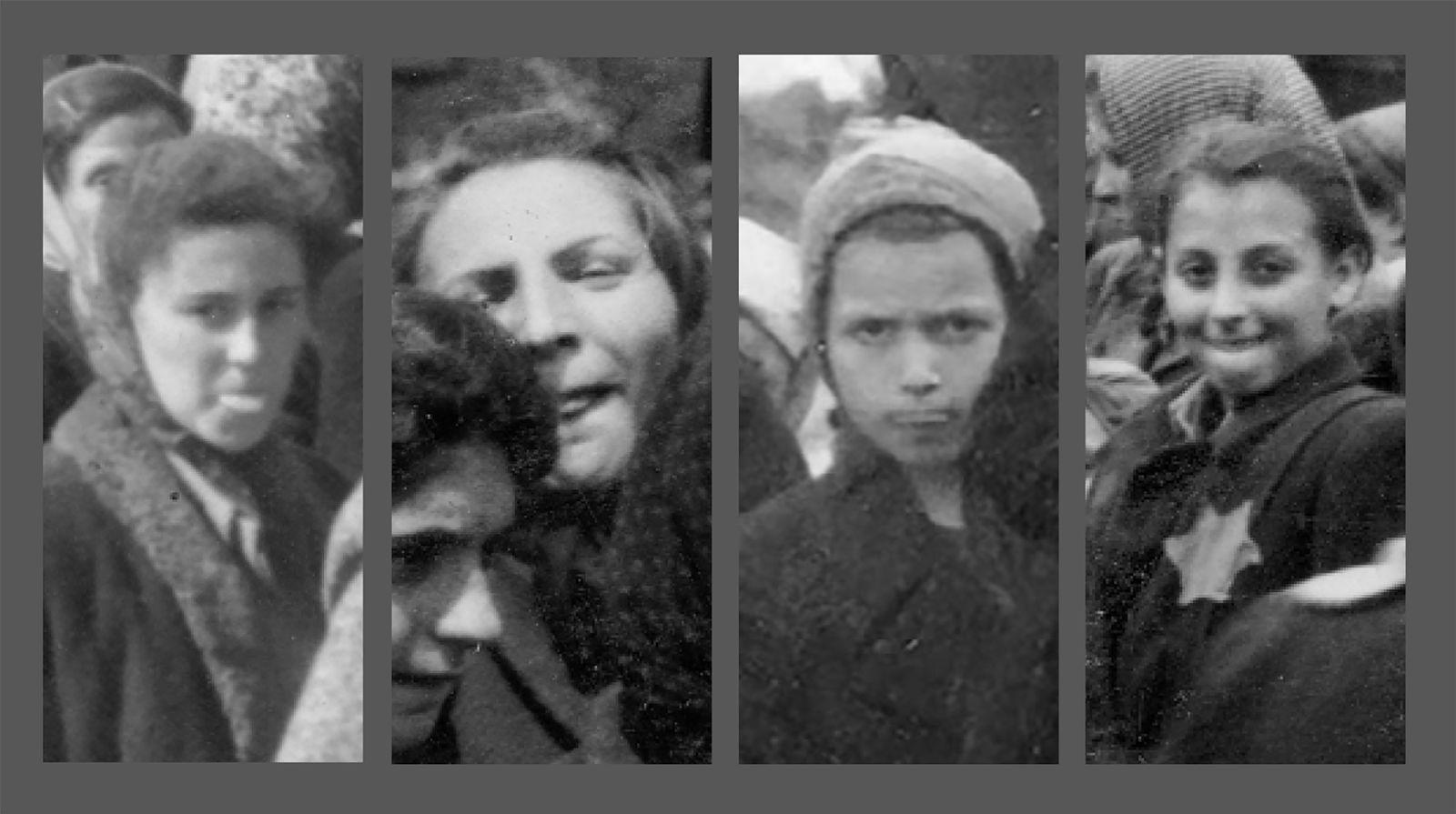 Detailansichten der Fotos 8, 82, 92 und 149 des Lili Jacob-Albums.