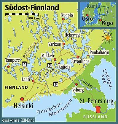 Südost-Finnland: Der Samai-See erstreckt sich 250 Kilometer nordöstlich von Helsinki bis zur russischen Grenze