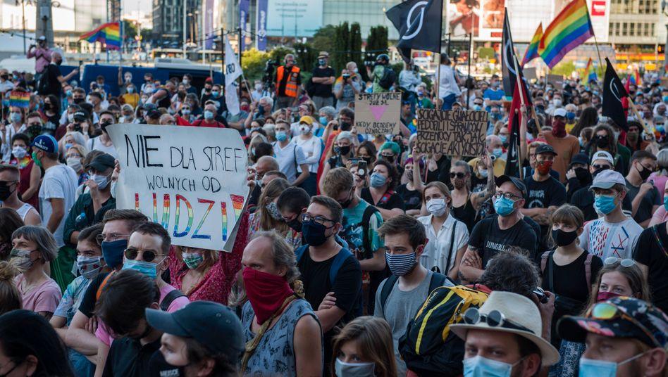 Demo in Warschau am Samstag