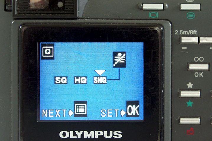 Beispiel: Die Komprimierung in einer Olympus-Kompaktkamera