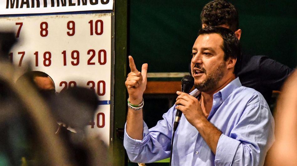 Lega-Chef und Euro-Gegner Matteo Salvini