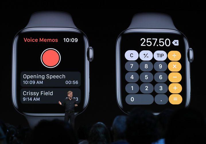 Taschenrechner-App auf der Apple Watch
