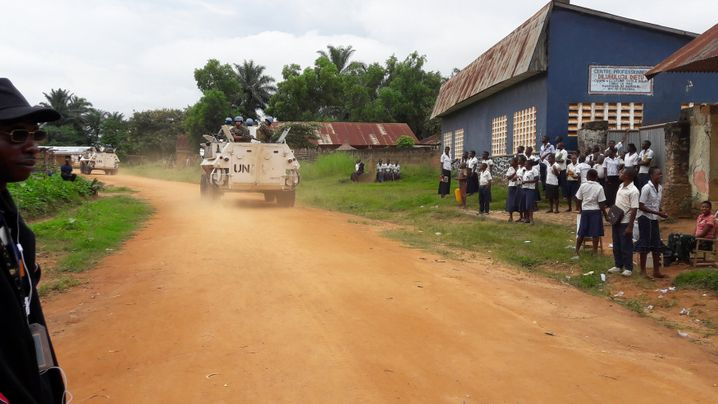Uno-Blauhelme in Kasai, wo die Leichen zweier Uno-Mitarbeiter gefunden wurden