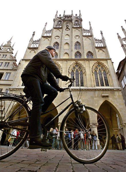 """Radfahrer in Münster: """"Fahrradfahren verlernst du nie"""""""