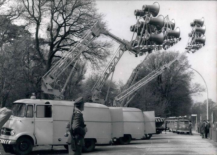 Westberliner Beschallungsfahrzeuge im Einsatz, 1963