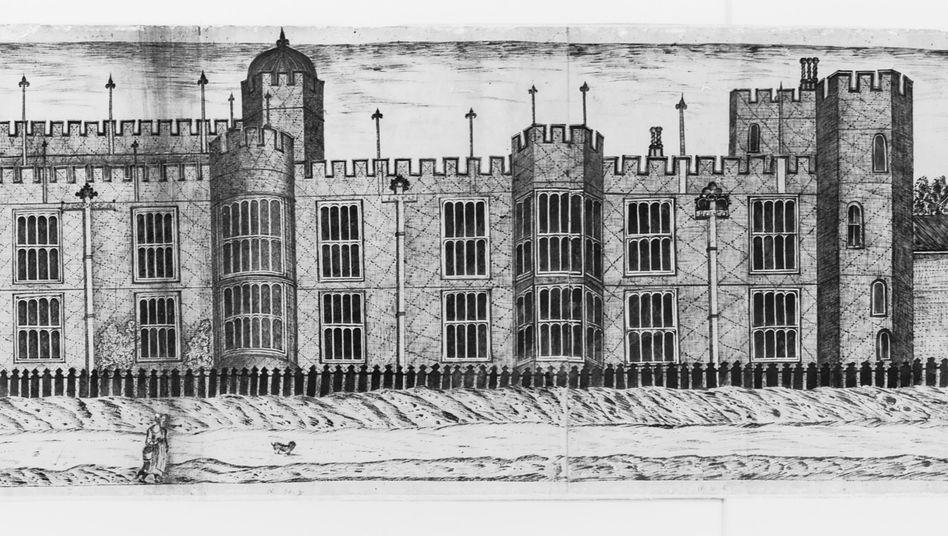 Hampton Court Palace (künstlerische Darstellung): Extra Räume für die Geliebte