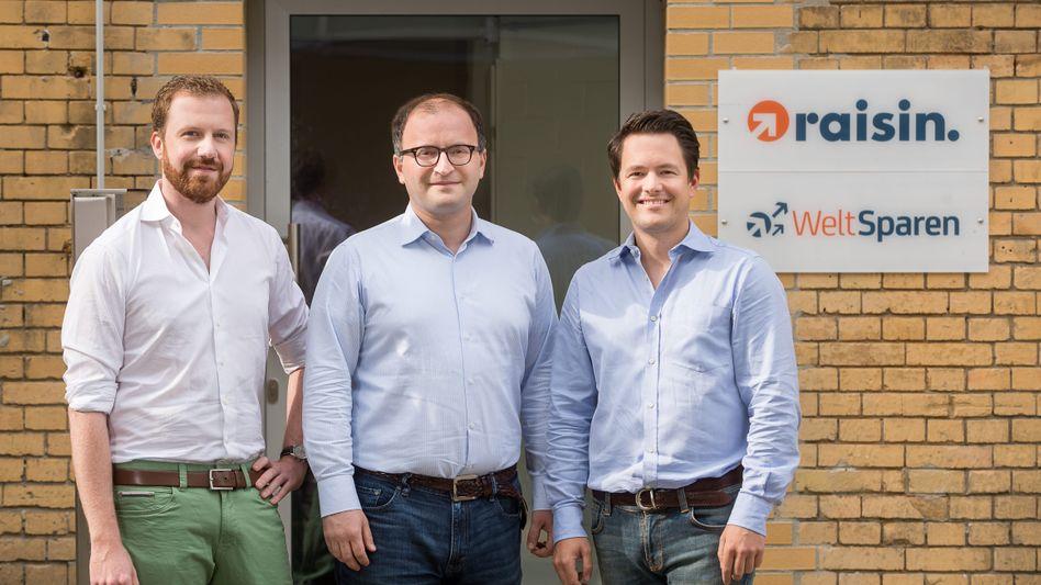 Die Raisin-Gründer Frank Freund, Tamaz Georgadze und Michael Stephan