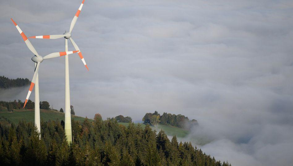 Windräder im Schwarzwald